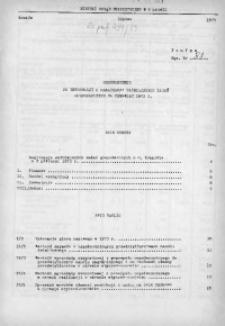 Uzupełnienie do Informacji o realizacji ważniejszych zadań gospodarczych za czerwiec 1973 r.