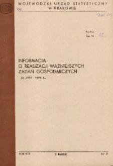 Informacja o realizacji ważniejszych zadań gospodarczych za luty 1975 r.
