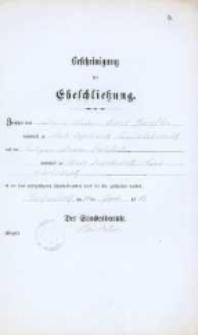 Akt zawarcia małżeństwa z 30.07.1883 r.