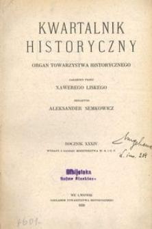 Kwartalnik Historyczny. R 34 (1920)