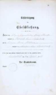 Akt zawarcia małżeństwa z 16.04.1883 r.
