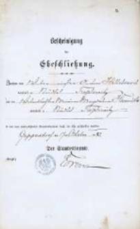 Akt zawarcia małżeństwa z 17.10.1887 r.