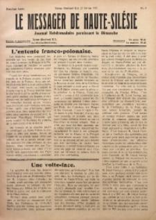Le Messager de Haute-Silesie, 1921, R. 2, nr 9
