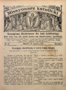 Misyonarz Katolicki, 1891, R. 1, nr 12