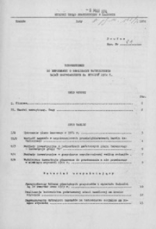 Uzupełnienie do Informacji o realizacji ważniejszych zadań gospodarczych za styczeń 1974 r.