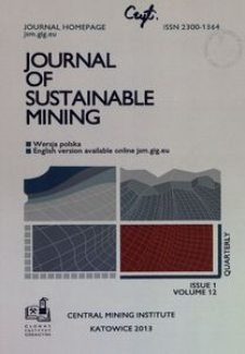 Journal of Sustainable Mining, 2013, nr 1