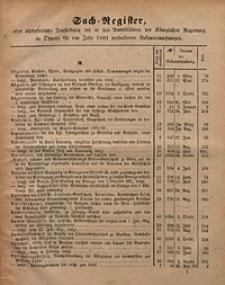 Sach-Register oder alphabetische Darstellung der, in den Amtsblättern der Königlichen Regierung in Oppeln für das Jahr 1881 enthaltenen Bekanntmachungen