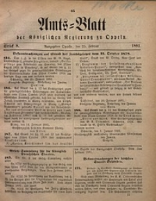 Amts-Blatt der Königlichen Regierung zu Oppeln, 1881, Bd. 66, St. 8