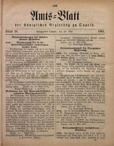 Amts-Blatt der Königlichen Regierung zu Oppeln, 1881, Bd. 66, St. 20