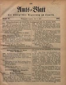 Amts-Blatt der Königlichen Regierung zu Oppeln, 1881, Bd. 66, St. 26