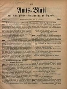 Amts-Blatt der Königlichen Regierung zu Oppeln, 1881, Bd. 66, St. 40