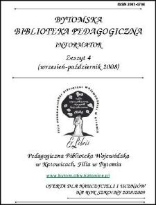 Bytomska Biblioteka Pedagogiczna. Informator. Zeszyt 4