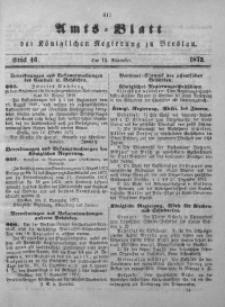 Amts-Blatt der Königlichen Regierung zu Breslau, 1872, Bd. 63, St. 46