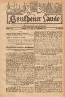 Aus dem Beuthener Lande, 1927, Jg. 4, Nr. 16