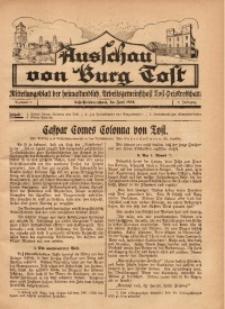 Ausschau von Burg Tost, 1928, Jg. 3, Nr. 6