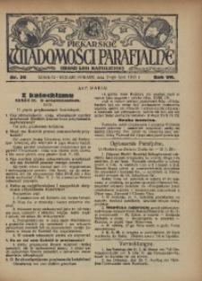 Piekarskie Wiadomości Parafjalne. Organ Ligi Katolickiej, 1935, R. 7, nr 30