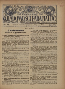 Piekarskie Wiadomości Parafjalne. Organ Ligi Katolickiej, 1935, R. 7, nr 20