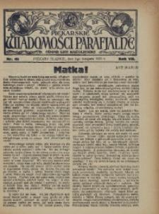 Piekarskie Wiadomości Parafjalne. Organ Ligi Katolickiej, 1935, R. 7, nr 45