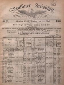 Beuthner Kreisblatt, 1868, No. 21
