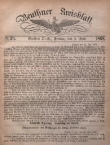 Beuthner Kreisblatt, 1868, No. 23