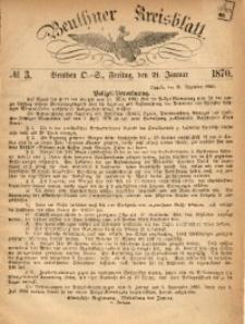 Beuthner Kreisblatt, 1870, No. 3