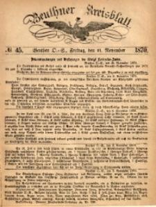 Beuthner Kreisblatt, 1870, No. 45