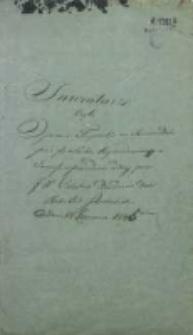 Inwentarz czyli opisanie Fryzurki na Sowim Dole przez pana Sacha wydzierżawionej i temuż w posiadanie oddanej przez J[aśnie] W[ielmożnych] Poleskich Dziedziców dóbr Rokitno Szlacheckie w dniu 24 VI 1846