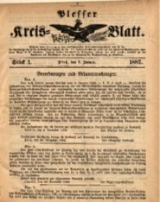 Plesser Kreis-Blatt, 1887, St. 1