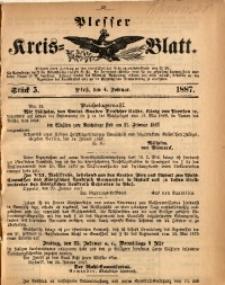 Plesser Kreis-Blatt, 1887, St. 5