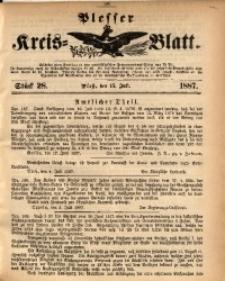 Plesser Kreis-Blatt, 1887, St. 28