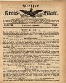 Plesser Kreis-Blatt, 1887, St. 35
