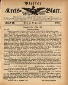 Plesser Kreis-Blatt, 1887, St. 39
