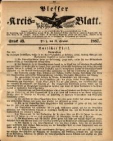 Plesser Kreis-Blatt, 1887, St. 43