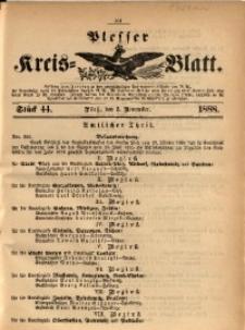 Plesser Kreis-Blatt, 1888, St. 44