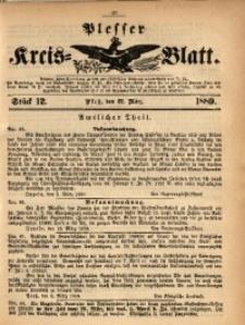 Plesser Kreis-Blatt, 1889, St. 12