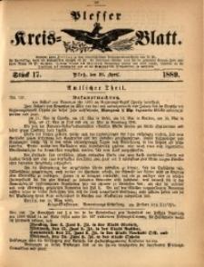 Plesser Kreis-Blatt, 1889, St. 17