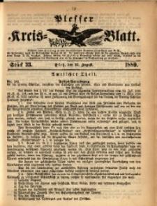 Plesser Kreis-Blatt, 1889, St. 33