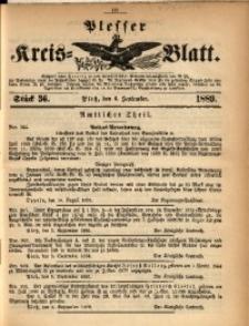 Plesser Kreis-Blatt, 1889, St. 36