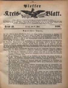 Plesser Kreis-Blatt, 1890, St. 19