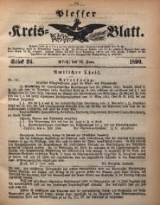 Plesser Kreis-Blatt, 1890, St. 24
