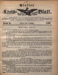 Plesser Kreis-Blatt, 1890, St. 31
