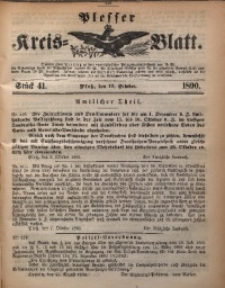 Plesser Kreis-Blatt, 1890, St. 41