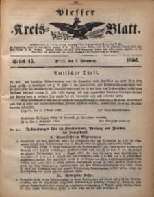 Plesser Kreis-Blatt, 1890, St. 45