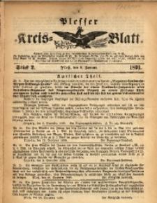 Plesser Kreis-Blatt, 1891, St. 2