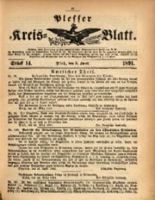 Plesser Kreis-Blatt, 1891, St. 14