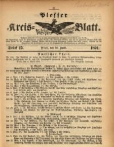 Plesser Kreis-Blatt, 1891, St. 15