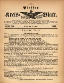Plesser Kreis-Blatt, 1891, St. 20