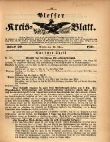 Plesser Kreis-Blatt, 1891, St. 22