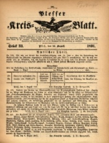 Plesser Kreis-Blatt, 1891, St. 33