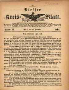 Plesser Kreis-Blatt, 1891, St. 51